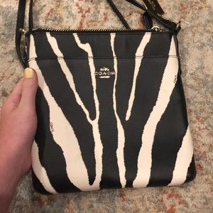 Coach zebra print Crossbody/satchel
